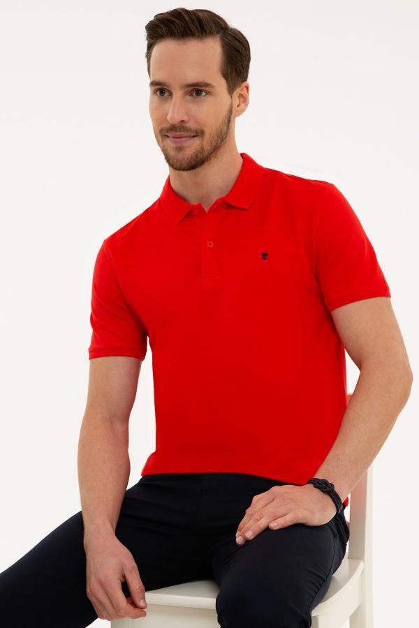 تی شرت مردانه حراجی مارک پیرکاردین رنگ قرمز ty40953476