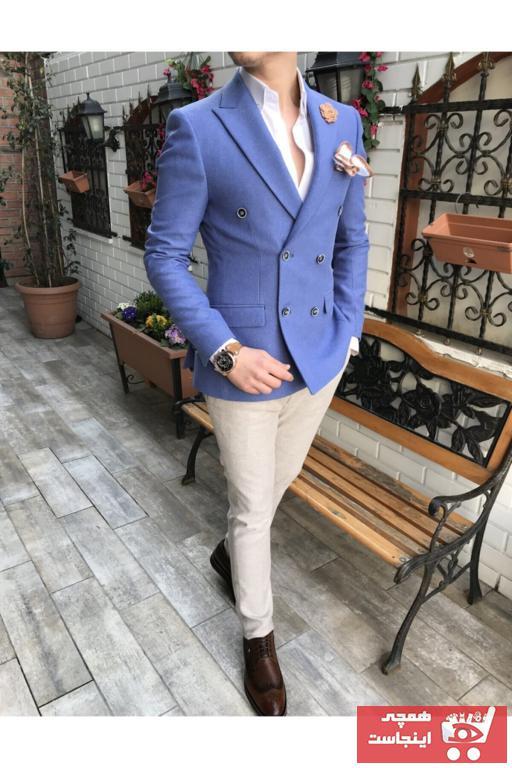 کت تک مردانه مارک دار برند TerziAdemAltun رنگ آبی کد ty41026519