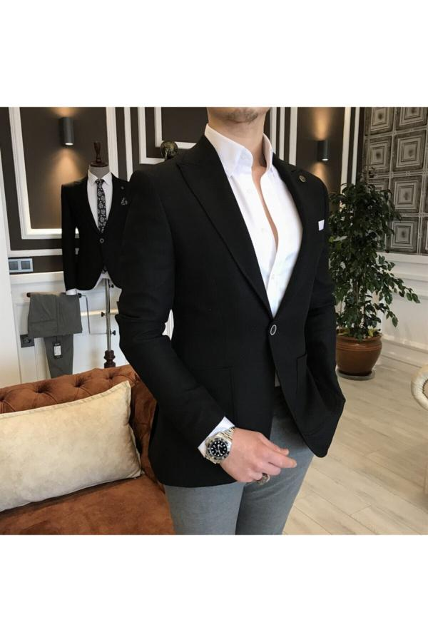خرید اینترنتی کت تک بلند برند TerziAdemAltun رنگ مشکی کد ty41047997