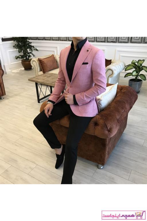 کت تک مردانه خاص برند TerziAdemAltun رنگ صورتی ty41048108