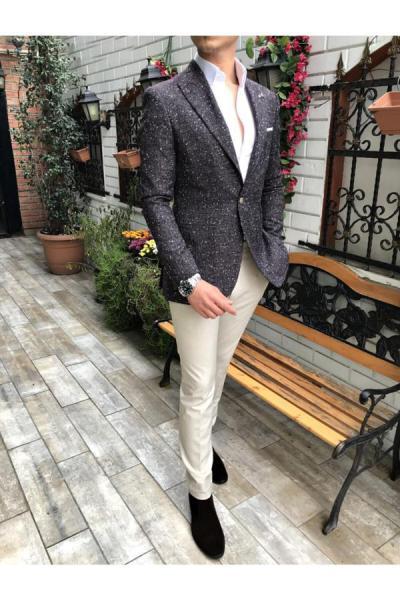 حرید اینترنتی کت تک مردانه ارزان برند TerziAdemAltun رنگ مشکی کد ty41052500