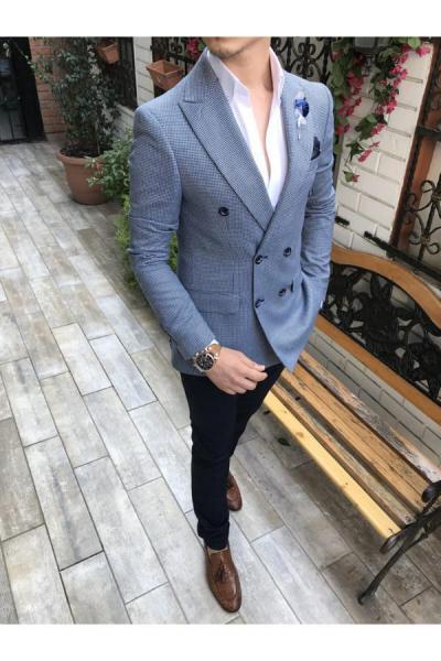 کت تک مردانه ارزان برند TerziAdemAltun رنگ آبی کد ty41052843
