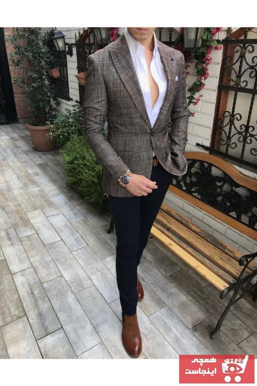 کت تک مردانه مجلسی برند TerziAdemAltun رنگ قهوه ای کد ty41053205