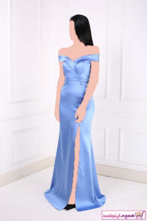 لباس مجلسی جدید زنانه شیک برند Abiyeniall رنگ آبی کد ty41150192
