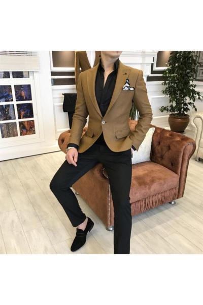 کت تک مردانه مدل برند TerziAdemAltun رنگ قهوه ای کد ty41153590