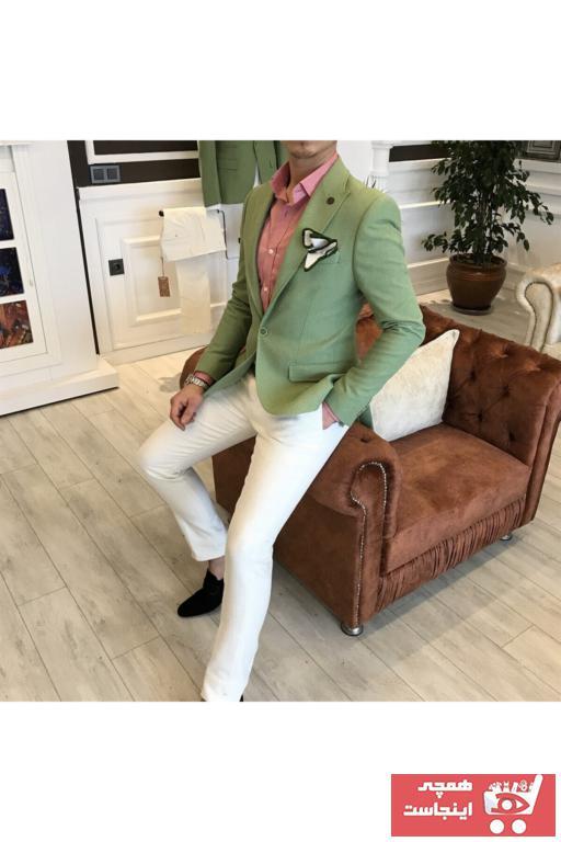 کت تک مردانه برند TerziAdemAltun رنگ سبز کد ty41153596