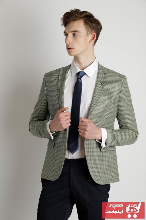 کت تک مردانه  برند EL FARO رنگ سبز کد ty41167919