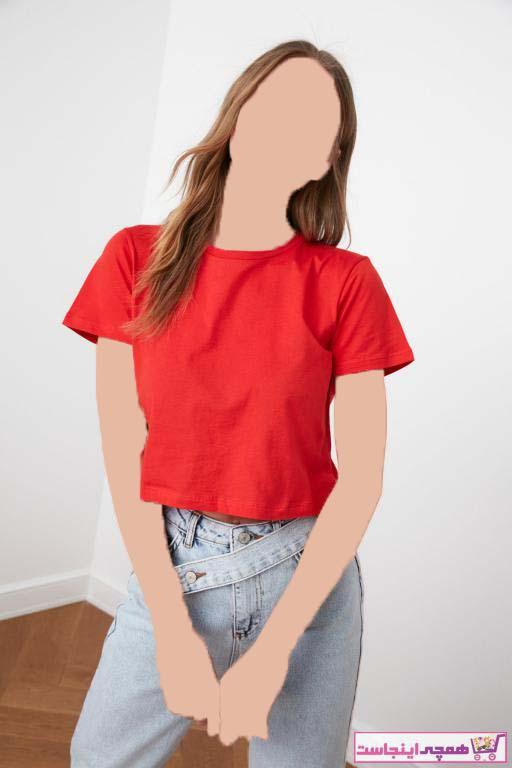خرید نقدی تیشرت زنانه ترک برند ترندیول میلا رنگ قرمز ty41186728