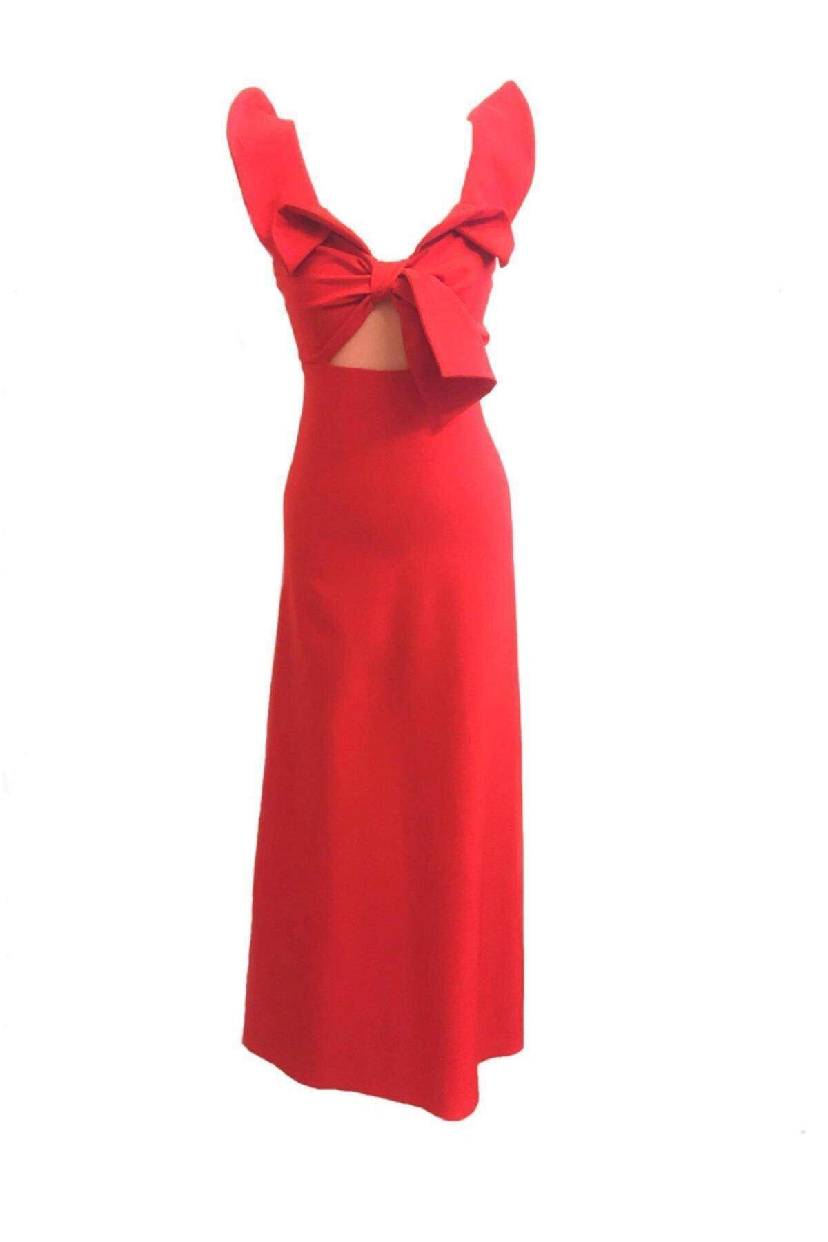 لباس مجلسی خاص زنانه برند Tuğçe Saray رنگ قرمز ty41187976