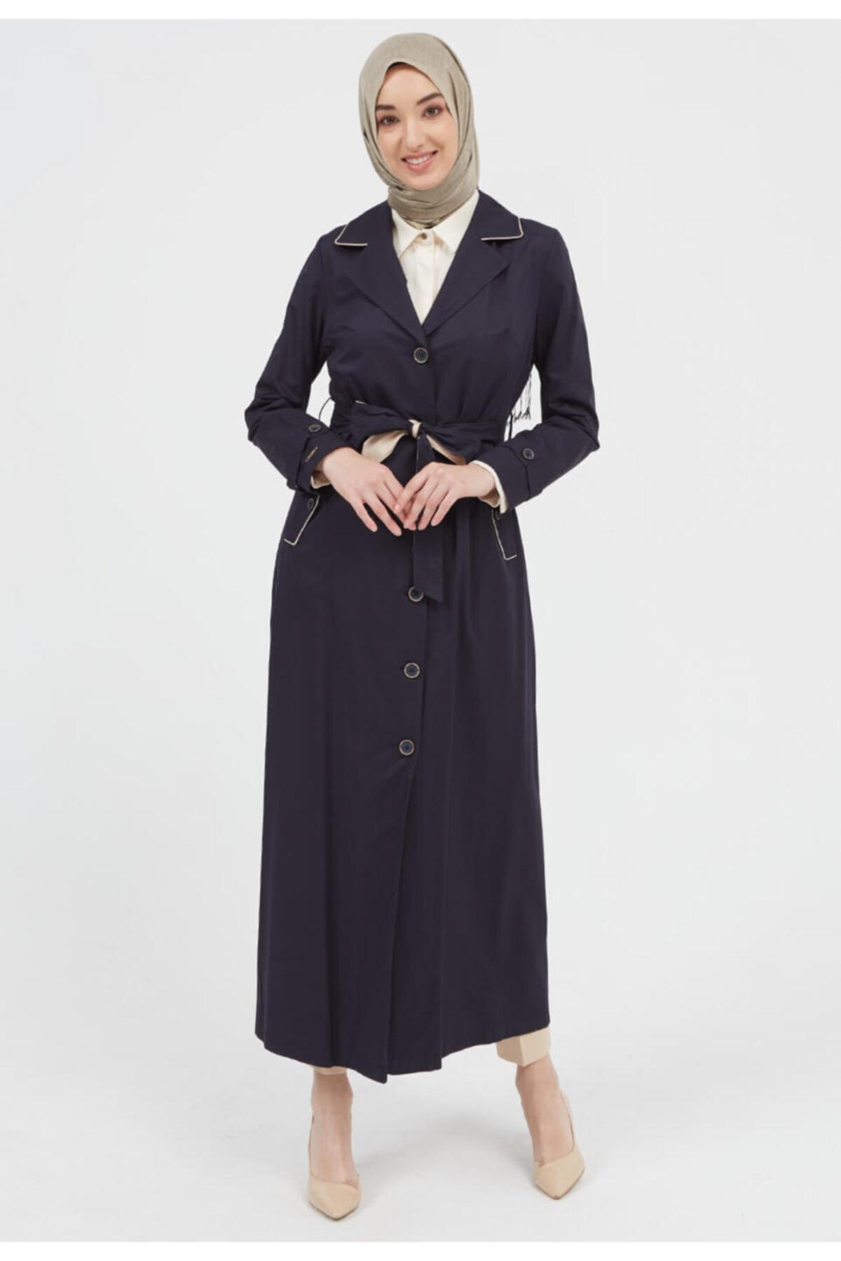 مانتو زنانه ارزان برند Setrms رنگ لاجوردی کد ty41483852