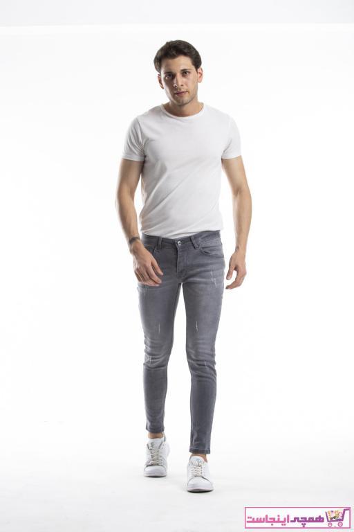 خرید انلاین شلوار جین مردانه ترکیه برند MODAMESTO رنگ نقره ای کد ty41693045