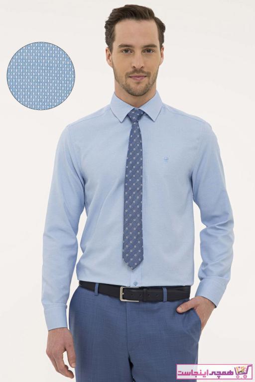 فروش پستی ست پیراهن اسپرت مردانه برند پیرکاردین رنگ آبی کد ty41808806