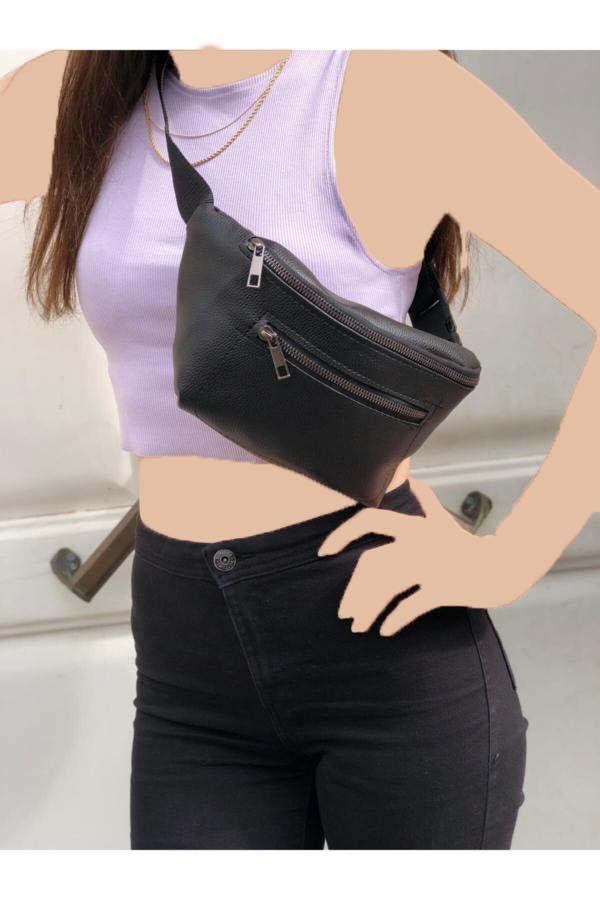 خرید اسان کیف کمری دخترانه اورجینال برند Amazon Girişim رنگ مشکی کد ty41825990