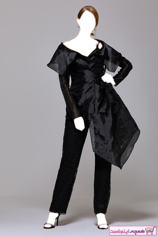 خرید نقدی لباس مجلسی زنانه ترک  برند RENGIN رنگ مشکی کد ty42133959