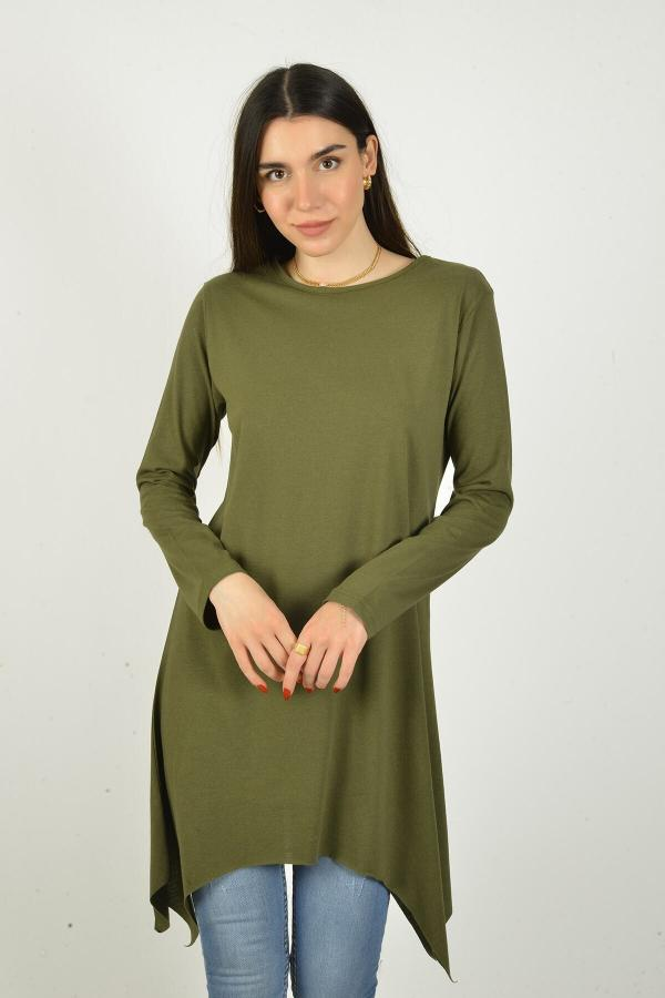تونیک زنانه شیک برند Penyem رنگ خاکی کد ty42220317