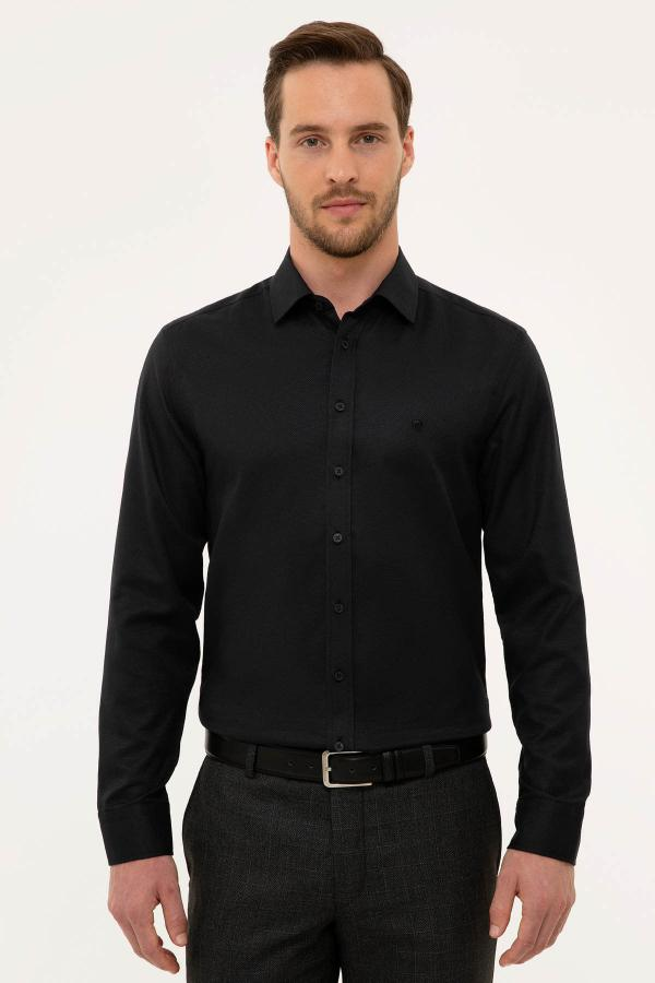 فروش اینترنتی پیراهن اسپرت مردانه با قیمت مارک پیرکاردین رنگ مشکی کد ty42333390