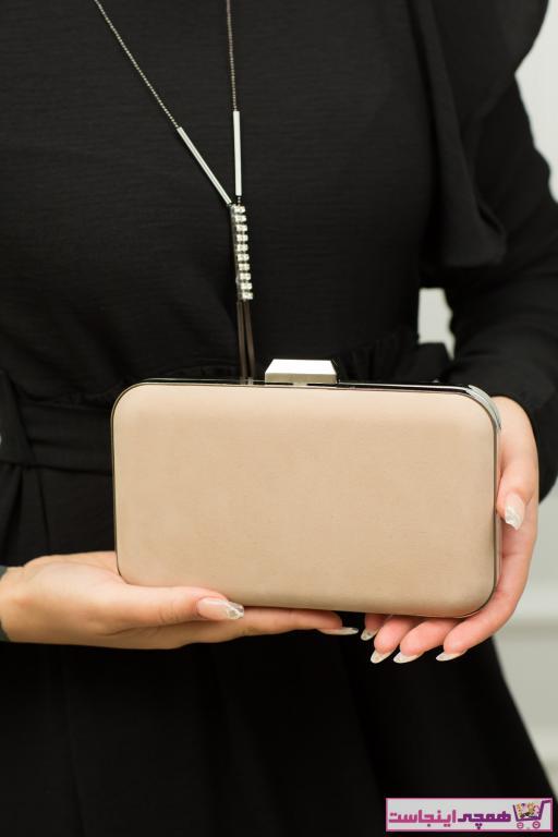 کیف مجلسی دخترانه اصل برند weem bag رنگ بژ کد ty42371611
