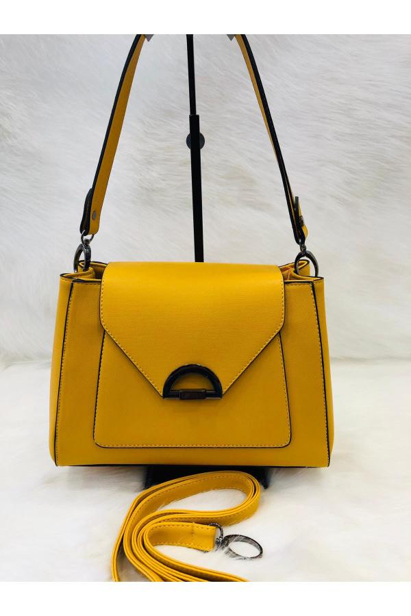 کیف دستی دخترانه اسپرت جدید برند Bulut Çanta رنگ زرد ty42383011