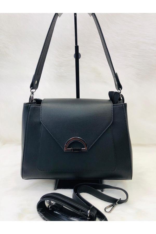 کیف دستی جدید دخترانه اصل برند Bulut Çanta رنگ مشکی کد ty42383193