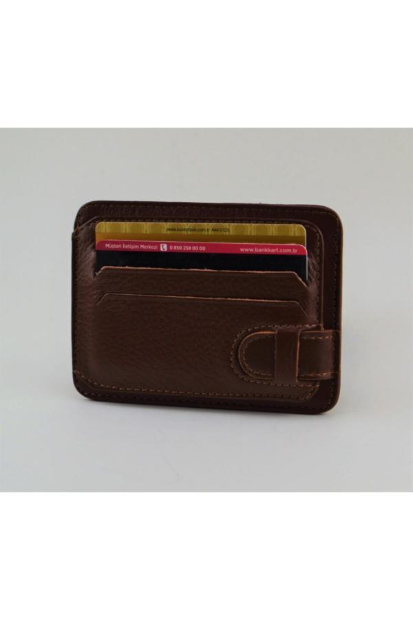 کیف کارت بانکی زنانه طرح دار برند ÖZ-KA LEATHER رنگ قهوه ای کد ty42481211