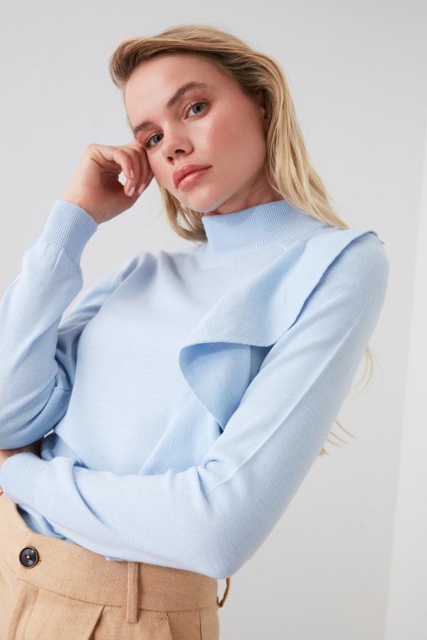 پلیور شیک زنانه برند ترندیول میلا رنگ آبی کد ty42519836
