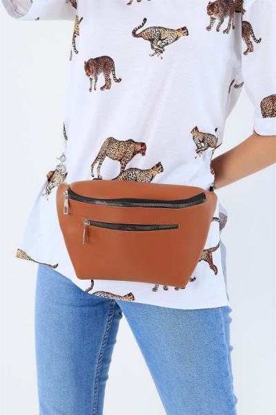 کیف کمری دخترانه فروشگاه اینترنتی برند G&E BAGS رنگ قهوه ای کد ty42612018