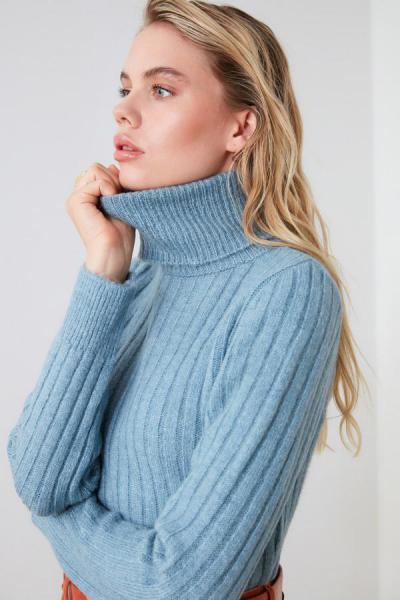 فروش پلیور جدید برند ترندیول میلا رنگ آبی کد ty42618058