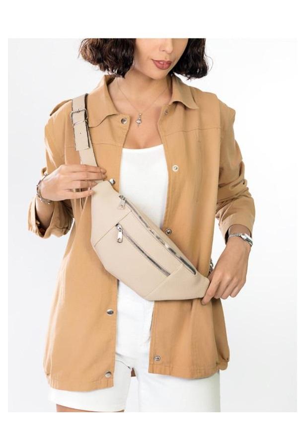 خرید پستی کیف کمری اورجینال دخترانه برند BAGzy رنگ بژ کد ty42625957