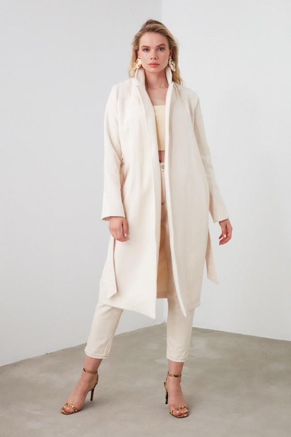 پالتو زنانه ست برند TRENDYOLMİLLA رنگ نقره ای کد ty42637733
