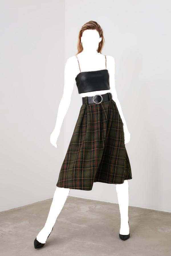 فروش دامن زنانه حراجی مارک ترندیول میلا رنگ سبز کد ty42672341
