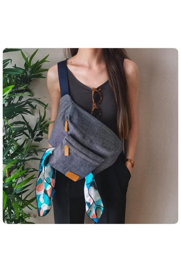 کیف کمری زنانه برند POWBAG رنگ لاجوردی کد ty42727619