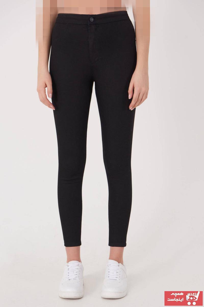 شلوار جین زنانه حراجی برند Addax رنگ مشکی کد ty4276095