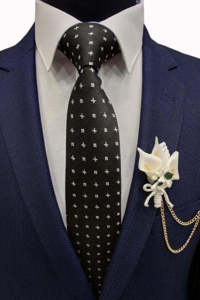 خرید ارزان کراوات  شیک برند Gutiero رنگ مشکی کد ty42790037