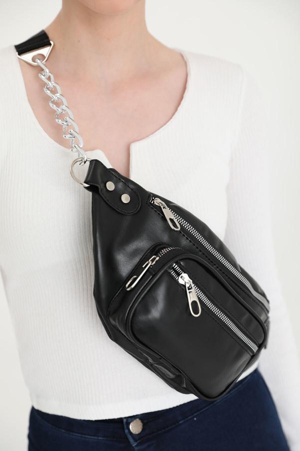 خرید انلاین کیف کمری جدید زنانه اصل برند Bipanya رنگ مشکی کد ty42881191