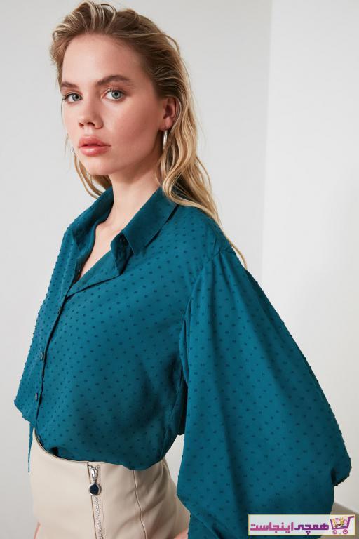 شومیز زنانه جدید برند TRENDYOLMİLLA رنگ آبی کد ty42941316