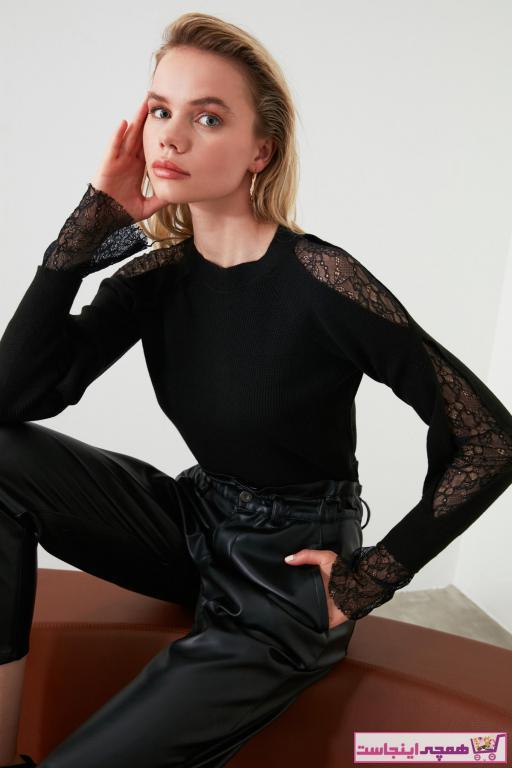 فروشگاه پلیور زنانه اینترنتی برند TRENDYOLMİLLA رنگ مشکی کد ty43128142