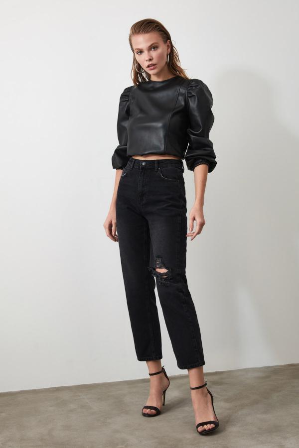 فروشگاه شلوار جین اورجینال مارک ترندیول میلا رنگ مشکی کد ty43140281