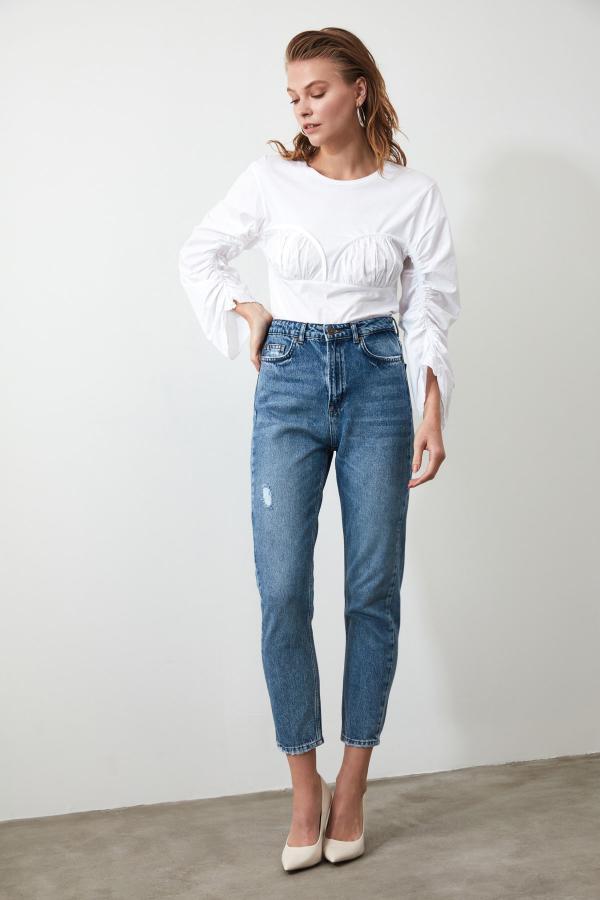 شلوار جین خاص برند ترندیول میلا رنگ آبی کد ty43213197