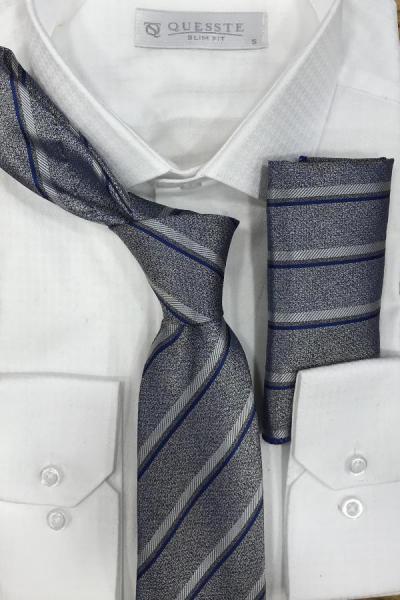 قیمت کراوات برند Quesste Accessory رنگ نقره ای کد ty43237621