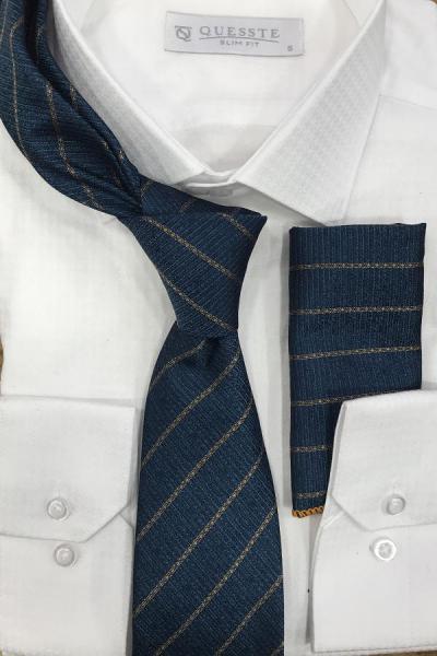 کراوات اصل جدید برند Quesste Accessory رنگ آبی کد ty43237652