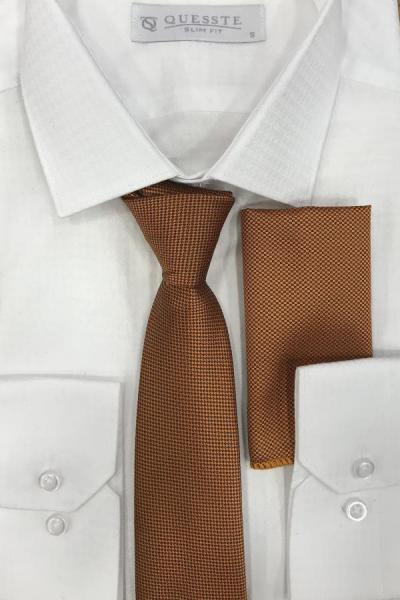 خرید مدل کراوات برند Quesste Accessory رنگ نارنجی کد ty43239134