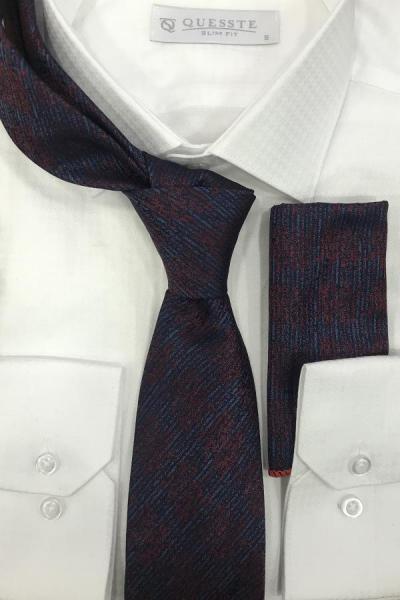 خرید انلاین کراوات جدید مردانه اصل برند Quesste Accessory رنگ زرشکی ty43240703