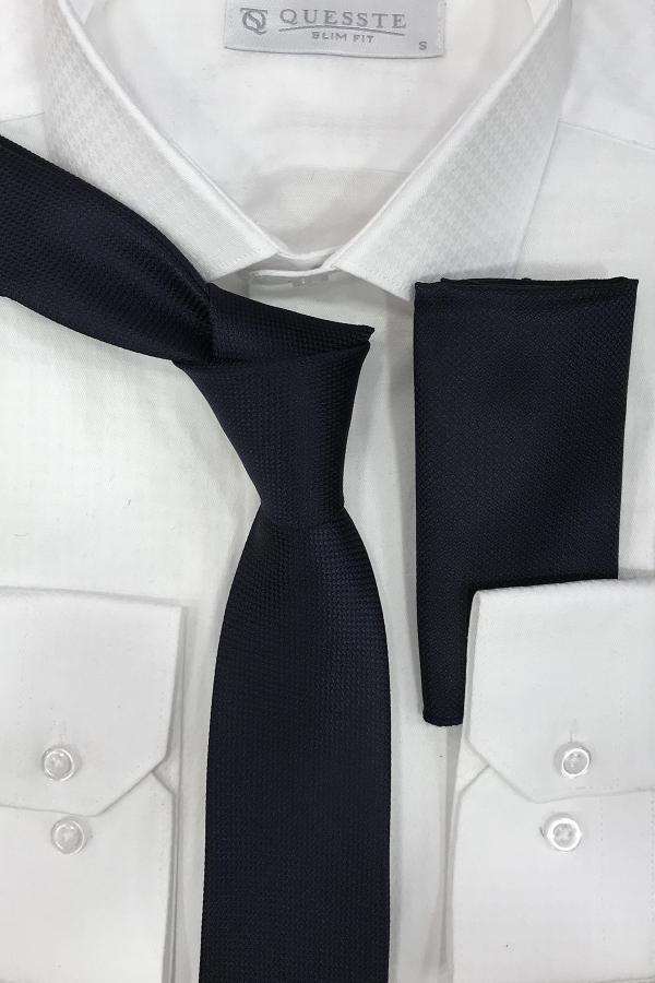کراوات اصل مجلسی برند Quesste Accessory رنگ لاجوردی کد ty43240841