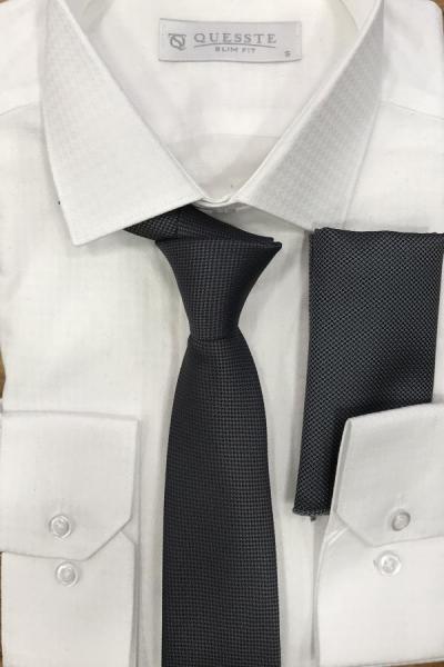 خرید انلاین کراوات طرح دار برند Quesste Accessory رنگ نقره ای کد ty43246611