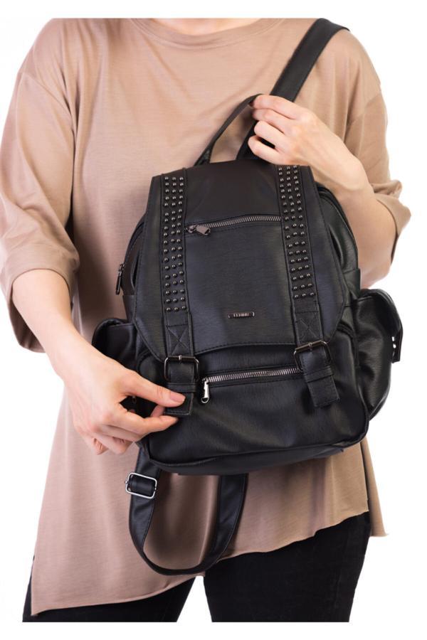 خرید نقدی کوله پشتی زنانه فروشگاه اینترنتی برند BAGzy رنگ مشکی کد ty43419014