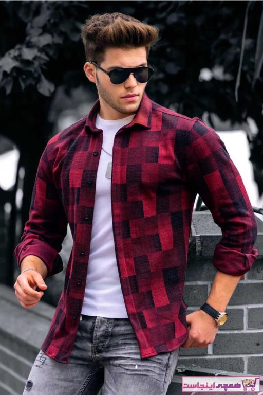 فروش پیراهن جدید برند مدمکس رنگ زرشکی ty43458974