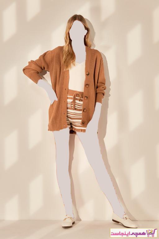 خرید نقدی ژاکت بافتی زنانه برند ترندیول میلا ترک رنگ قهوه ای کد ty43514175