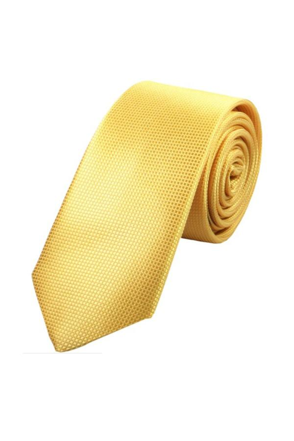 سفارش انلاین کراوات ساده برند Tempee رنگ زرد ty43793422