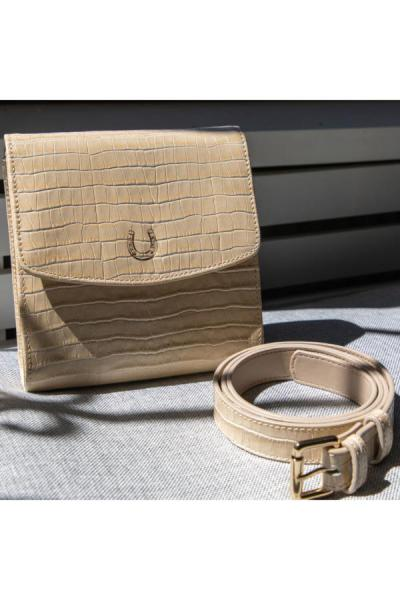 کیف کمری جدید دخترانه اصل برند YASEBAGS رنگ بژ کد ty43842427