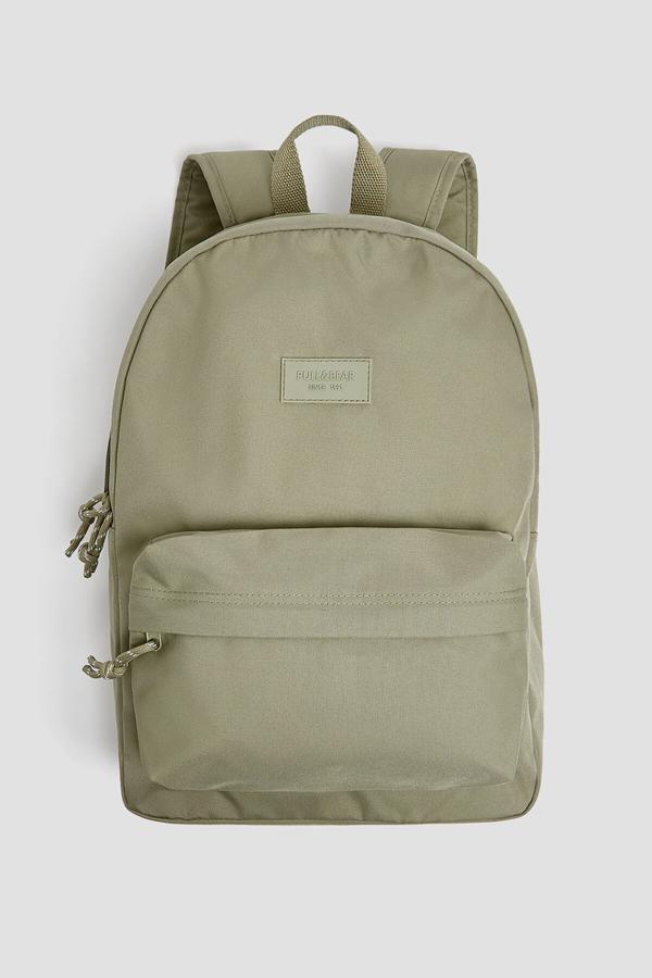 سفارش انلاین کوله پشتی دخترانه ساده برند Pull & Bear رنگ خاکی کد ty43913376